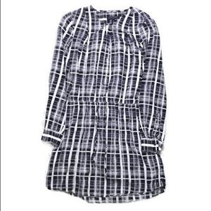 ♡ BANANA REPUBLIC BUTTON LONG SLEEVE DRESS ♡